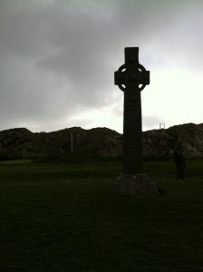Celtic Cross in a field