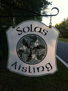 Welcome To Solas Aisling sign